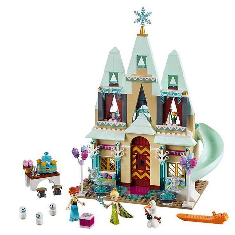 Click to buy ucuc jg building blocks arendelle castle princess anna