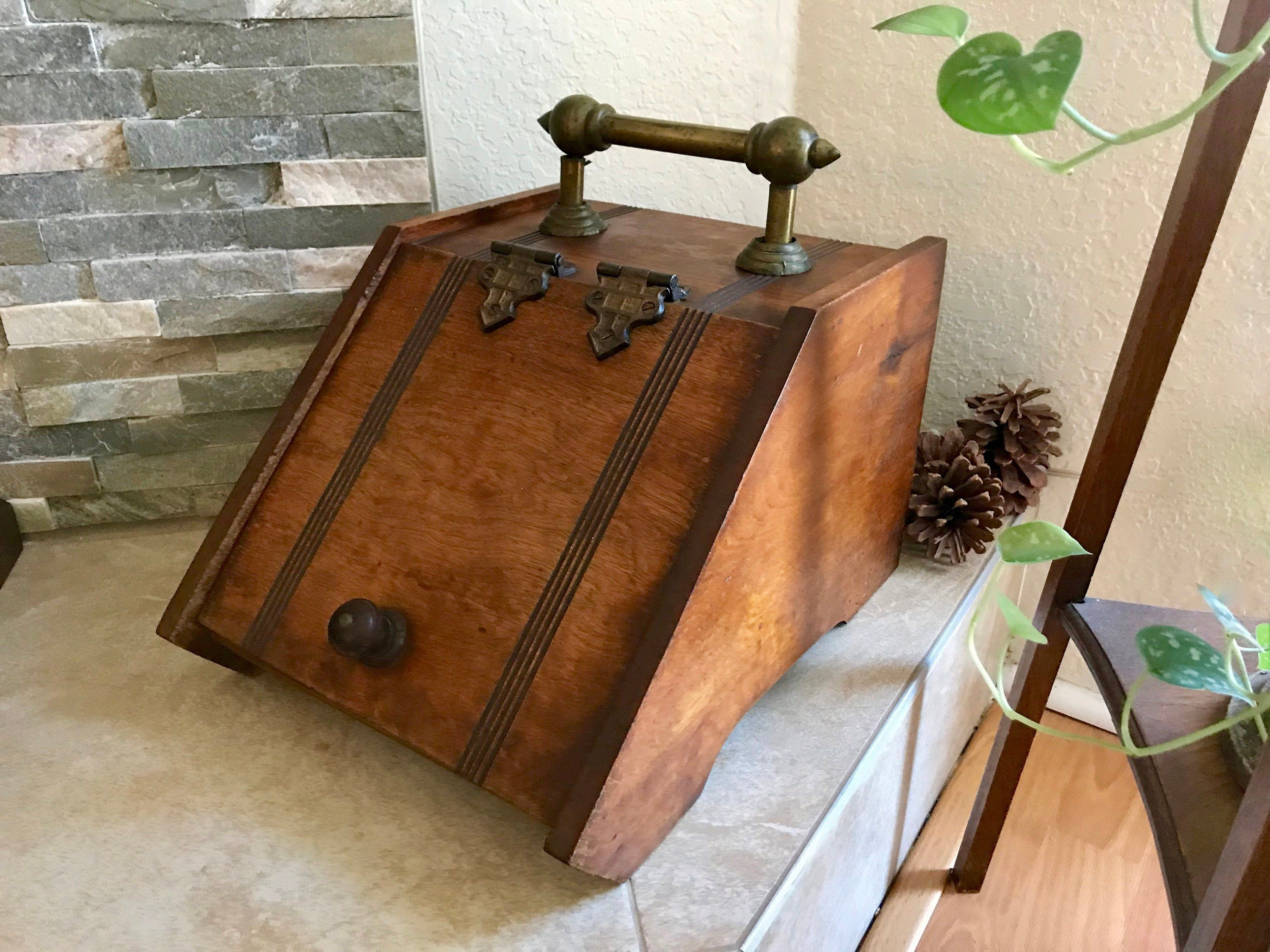 Antique Wood Coal Box Victorian
