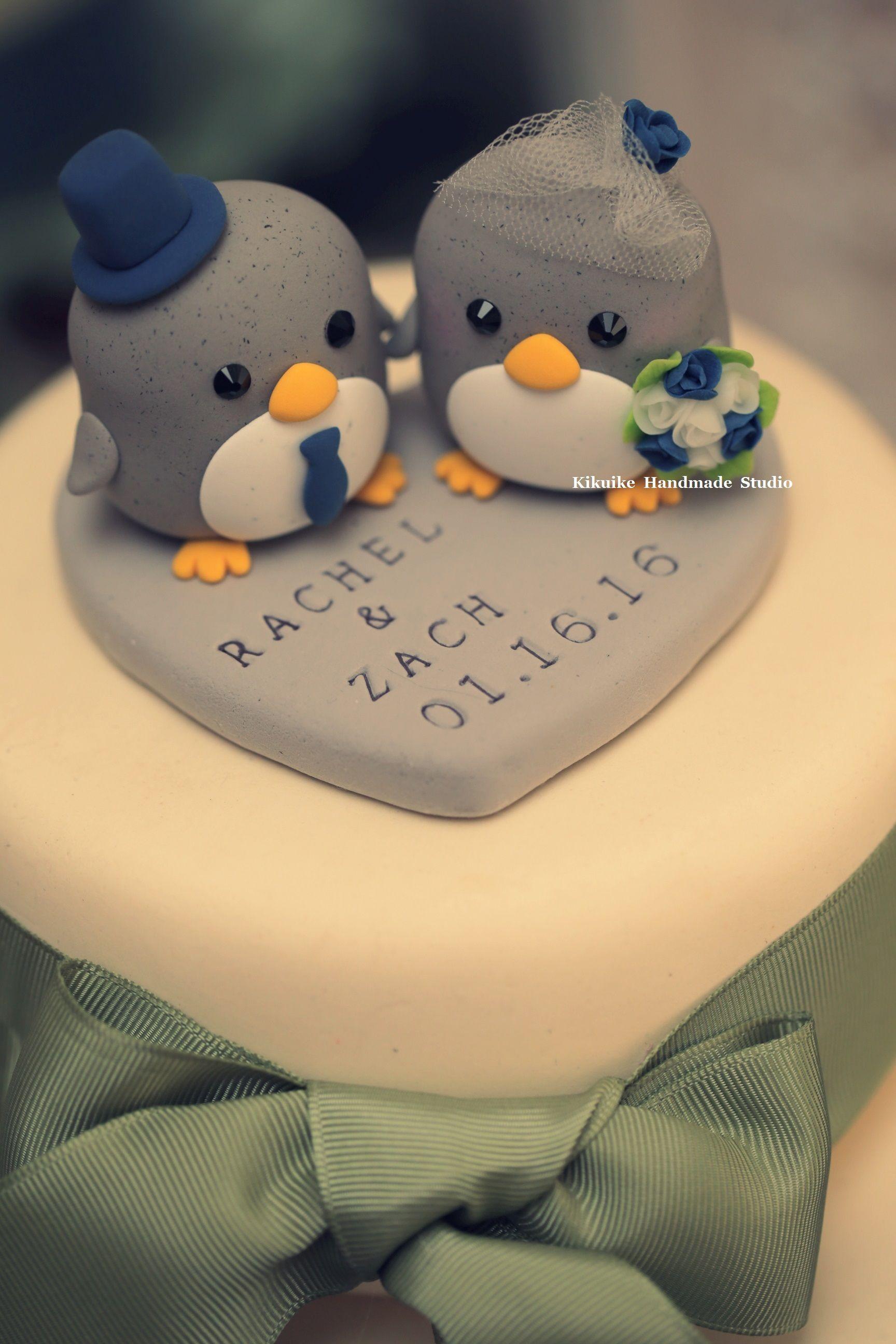 penguin cake topper---Special Edition (K204),penguin wedding cake ...