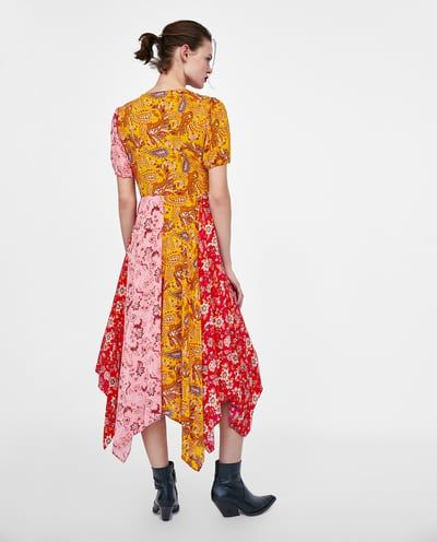 Image 5 Of Long Patchwork Dress From Zara