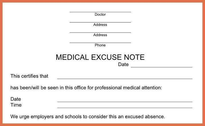 urgent care doctors note template | Doctors note template ...