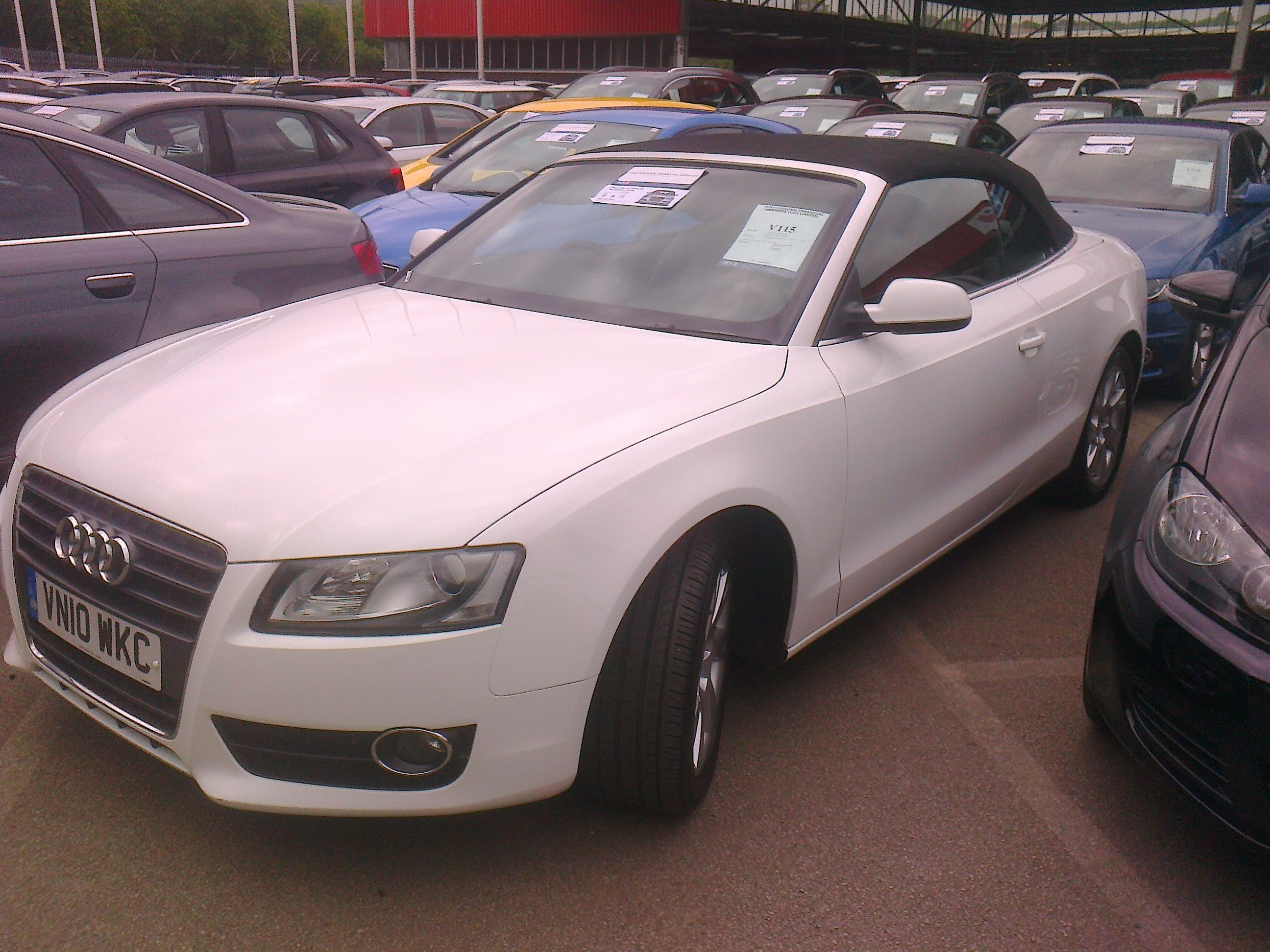 An Audi cabriolet Hand inspected and purchased for one of our