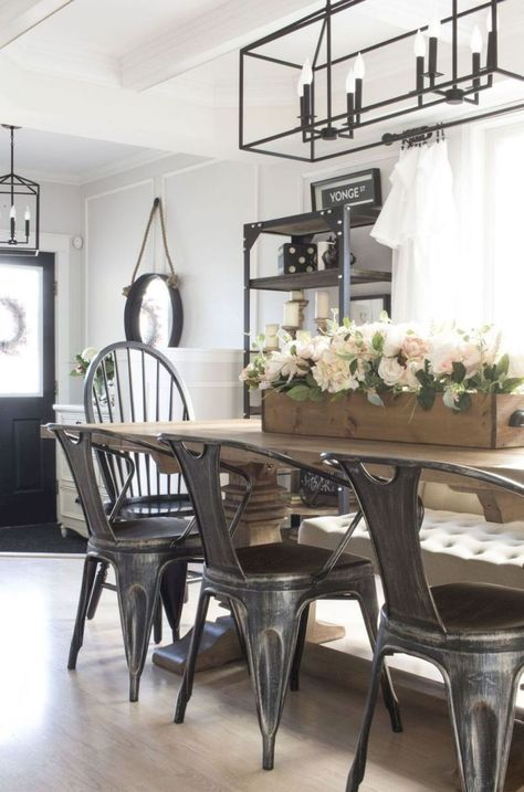 Farmhouse Industrial Decor Joanna Gaines Dining Rooms 49 Super