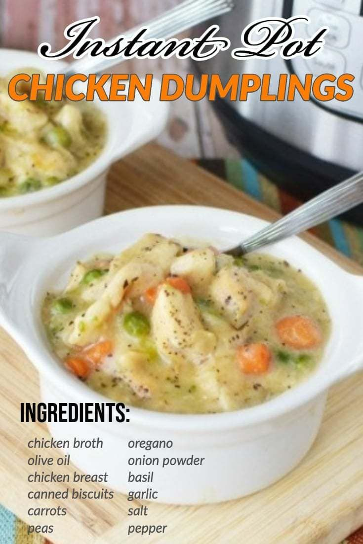 Instant Pot Chicken & Dumplings Recipe With Canned Biscuits (VIDEO)