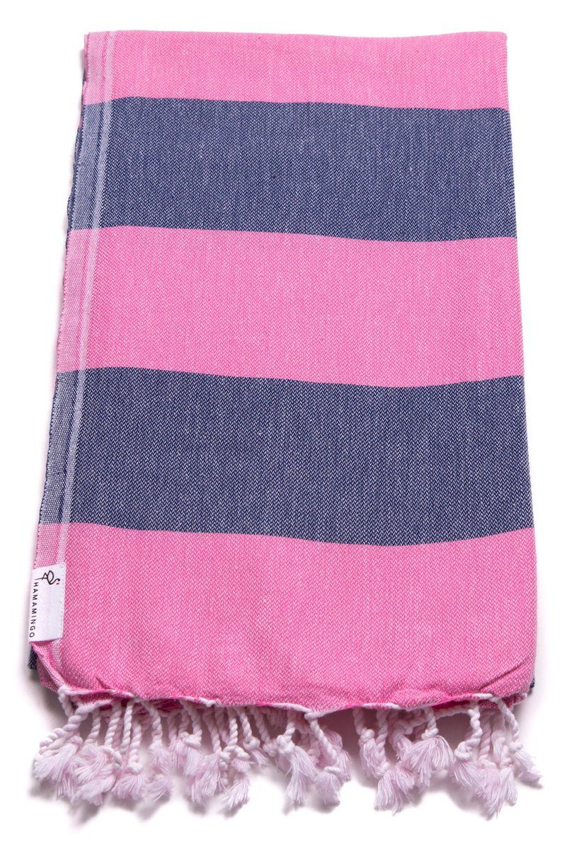 Carnival Travel Towel Hot Pink Navy Blue In 2020 Beach Holiday