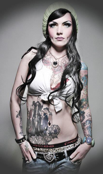 Erotic lesbian piercings and tatoos