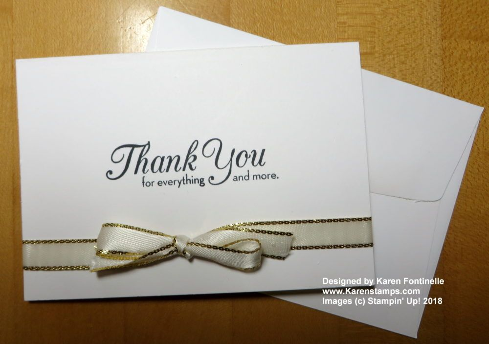 quick and easy thank you note card  thank you note cards
