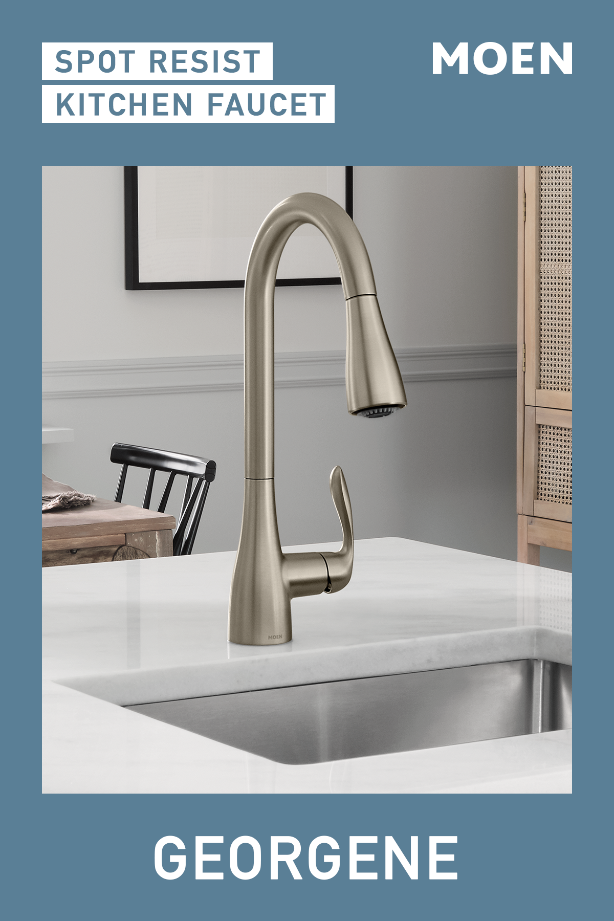 Maintain The Clean Kitchen Look You Love With Our Georgene Spot Resist Faucet Kitchen Sink Design Interior Paint Colors For Living Room Kitchen And Bath Design