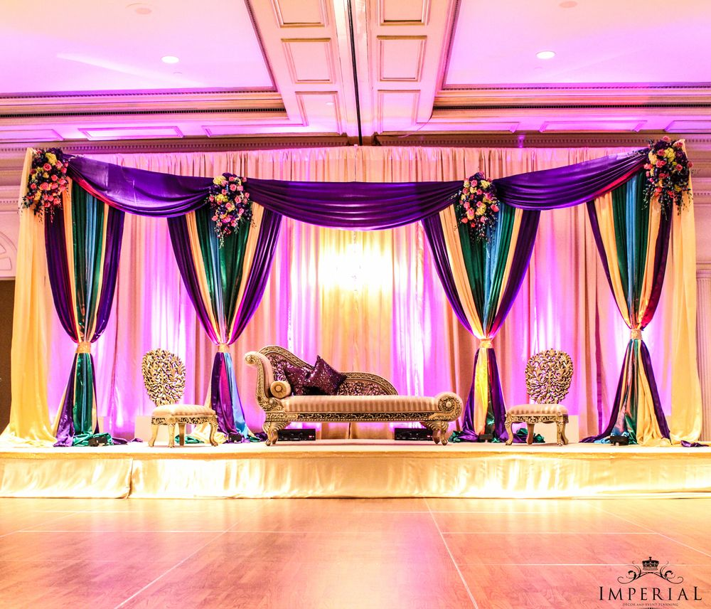 Colorful Mehendi stage (With images) Muslim wedding