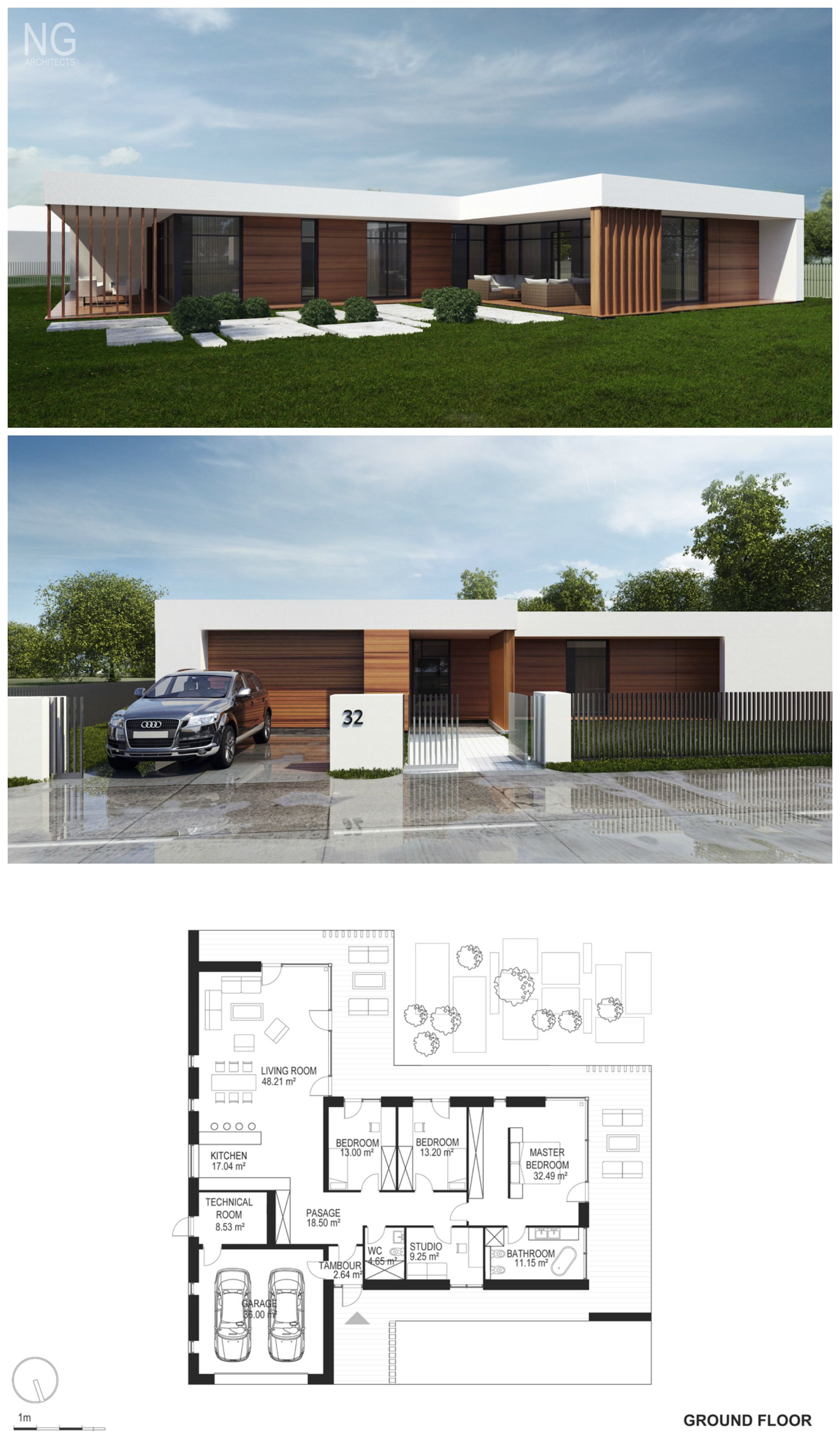 Modern 240 m2 house designed by ng architects modern bungalow house plans bungalow homes plans