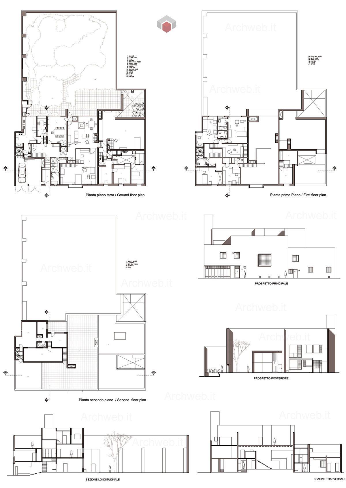 Barrag n house and studio dwg drawings i maestri luis for Strumento di disegno di architettura online