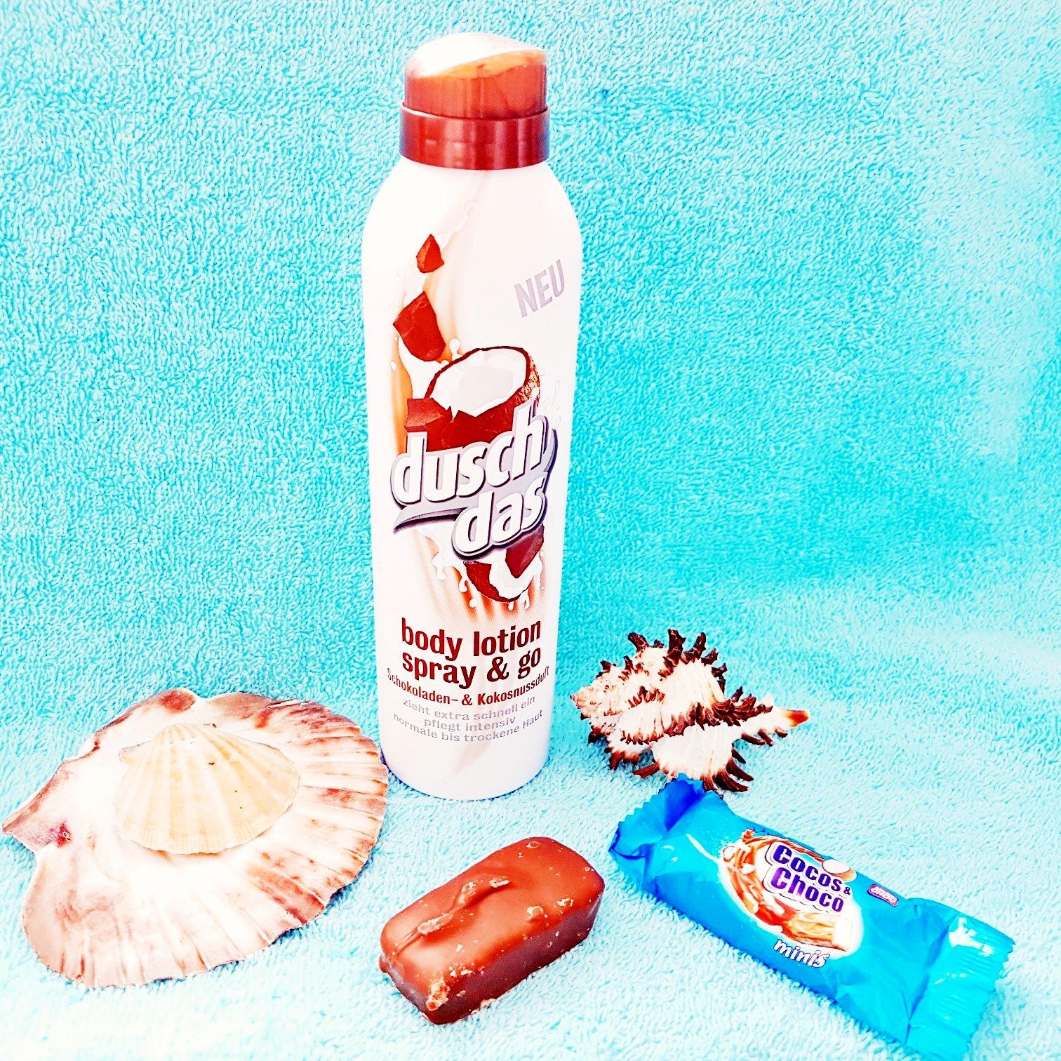Duschdas Bodylotion Spray & Go mit Schokoladen - & Kokosnussduft