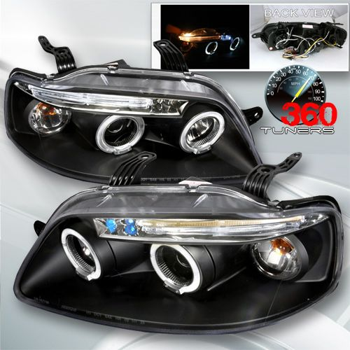 04 08 Chevy Aveo 5dr Halo Led Projector Headlights With Amber