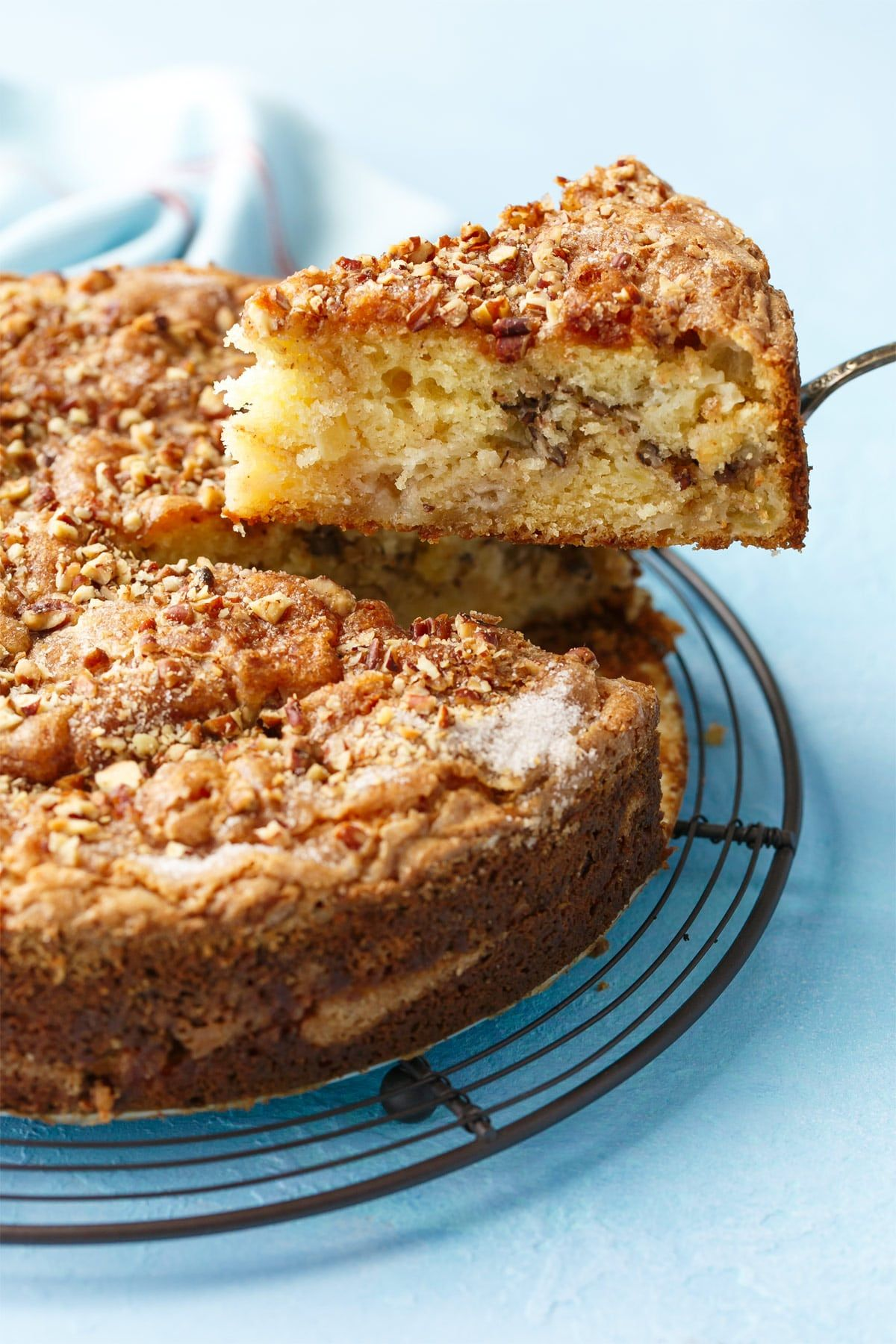 Apple Sour Cream Coffee Cake Love And Olive Oil Recipe Sour Cream Coffee Cake Coffee Cake Savoury Cake