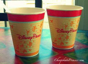where to get free drinks at Disney World, free drink refills at Disney restaurants, Disney mugs, Disney resort mugs
