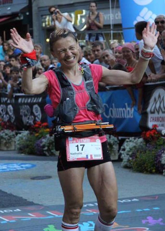 Nathalie Mauclair, vainqueur de l'UTMB 2015. Participe au Grand Raid de la Réunion 2015 en octobre prochain.