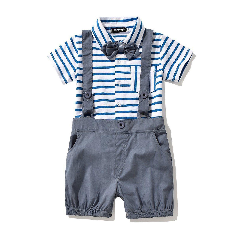 Amazon Baby Boy s Bowtie Gentleman Romper Jumpsuit Overalls