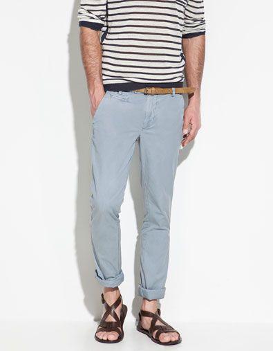 d55e6a8a4d Zara Plain Cotton Trousers   fashion & beauty   Fashion, Zara, Mens ...