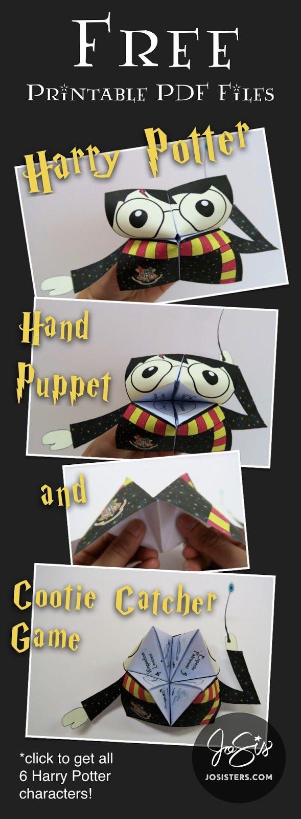 Harry Potter Hand Puppet/Cootie Catcher Worksheet