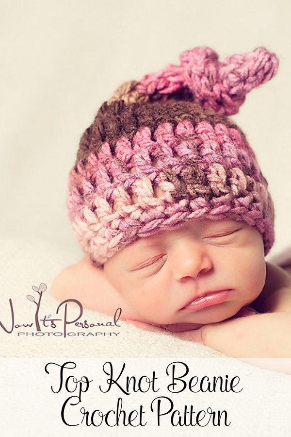 Crochet Pattern - A super cute crochet top knot hat pattern! Perfect for  boys and girls. By Posh Patterns. 694a37e5d214