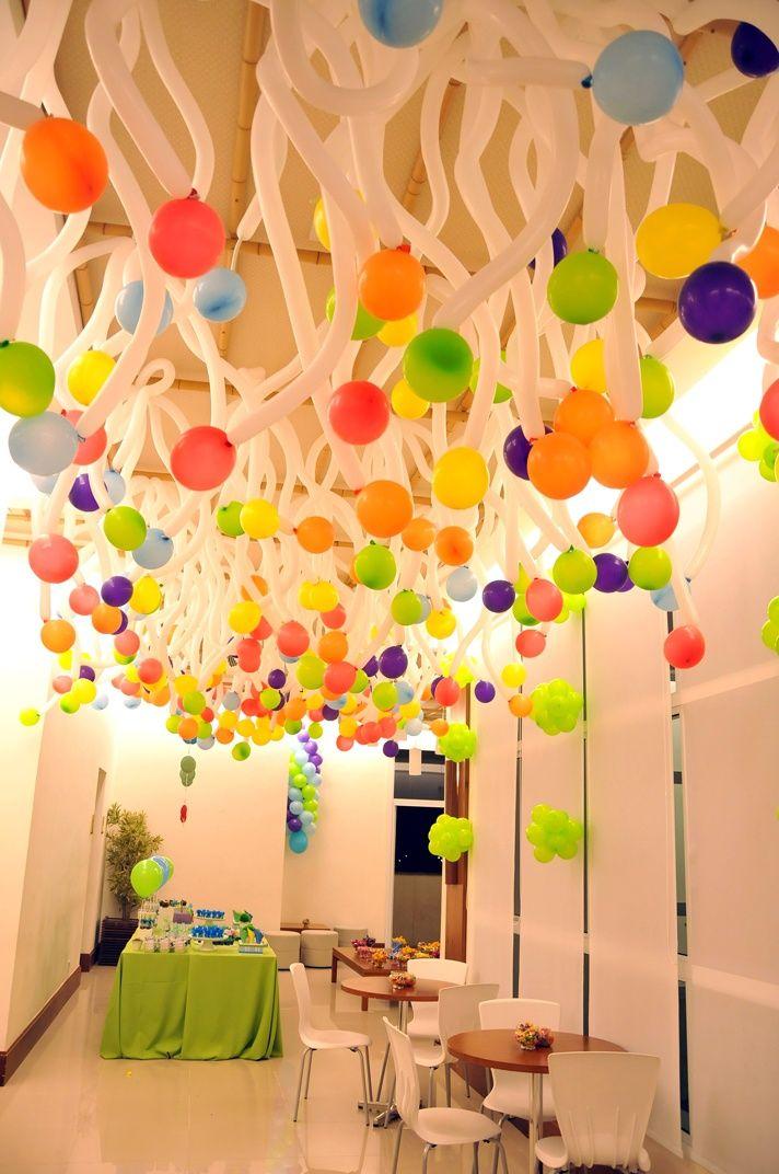 Esta Idea Es Muy Llamativa Para Una Fiesta De Niños Decoración De Fiestas Infantiles Decoración De Fiesta Globos