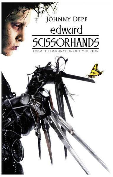 Edward Scissorhands Johnny Depp Rare Vintage Poster