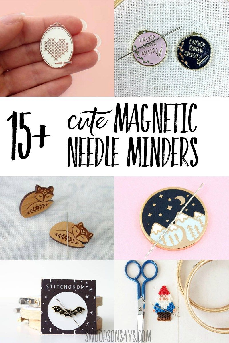 Needle Minder Diy : needle, minder, Magnetic, Needle, Holder, Ideas, Minders,, Beginner, Sewing, Projects, Easy,