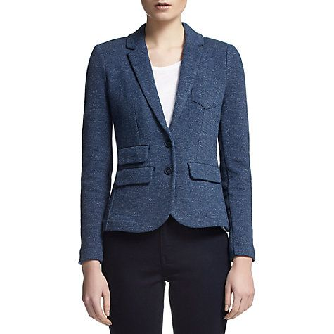 Buy Whistles Double Faced Marl Jacket, Navy Online at johnlewis.com