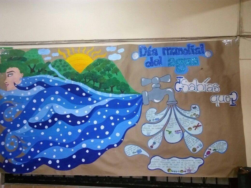 Peri dico mural con motivo del d a mundial del agua for Contenido del periodico mural