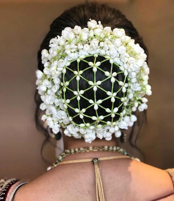 Wedding Hairstyle With Jasmine Flower: Indian Bridal Hairstyles Inspiration