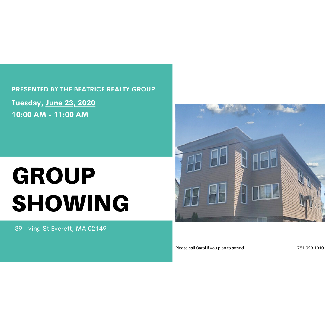 Group Showing Tuesday, June 23 from 🕞 10:00 - 🕟 11:00  Please call Carol if you plan to attend. ☎ 781-929-1010  #Showing #GroupShowing #OpenHouse #HouseTour #Viewing #HouseForSale #HomeForSale #ExclusiveListing #ListingForSale #EXITRealtyBeatriceAssociates #TheBeatriceRealtyGroup