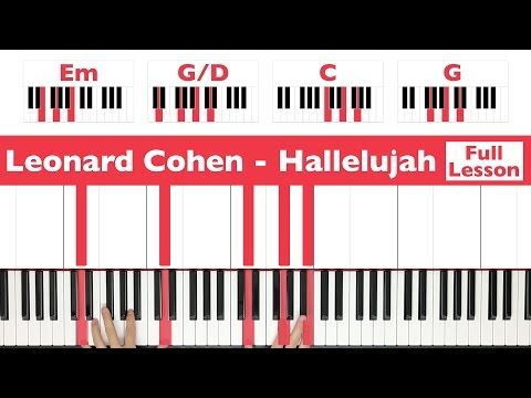 How To Play Hallelujah Leonard Cohen Piano Tutorial Full Lesson