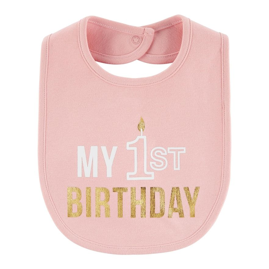 Baby Girl Carter's My 1st Birthday Teething Bib