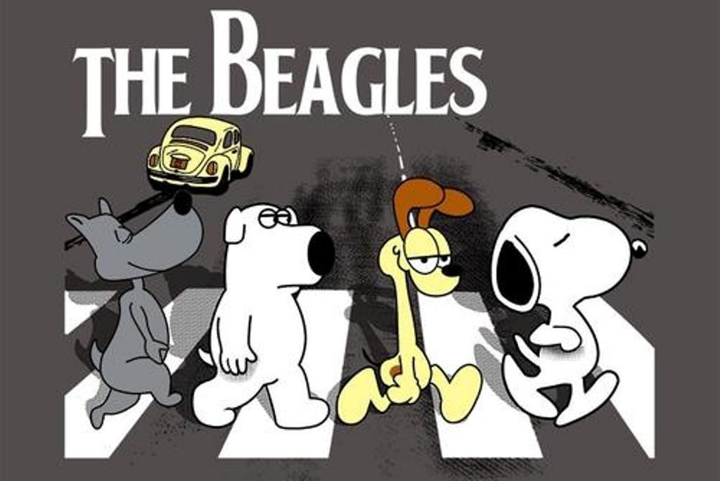 The Beatles Abbey Road The Beagles Beagle Snoopy Snoopy Love
