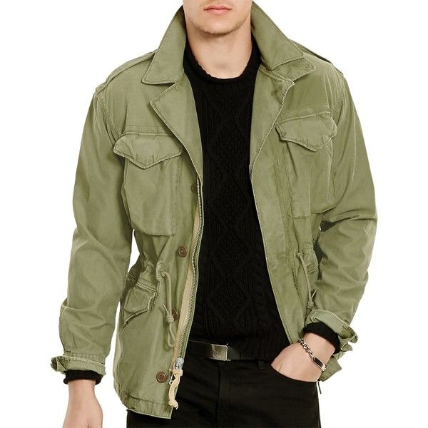 Polo Ralph Lauren Four Pocket Moto Jacket ( 117) ❤ liked on Polyvore  featuring men s fashion, men s clothing, men s outerwear, men s jackets,  army olive, ... aa2aa90ffb