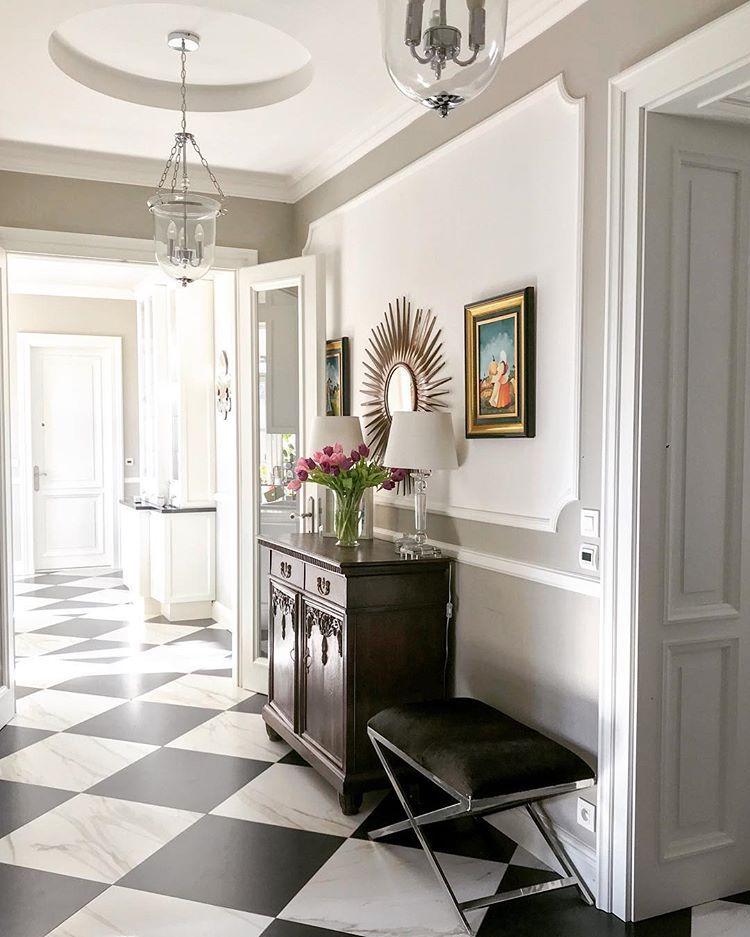 Black and white floors hallwayideas hallway checked
