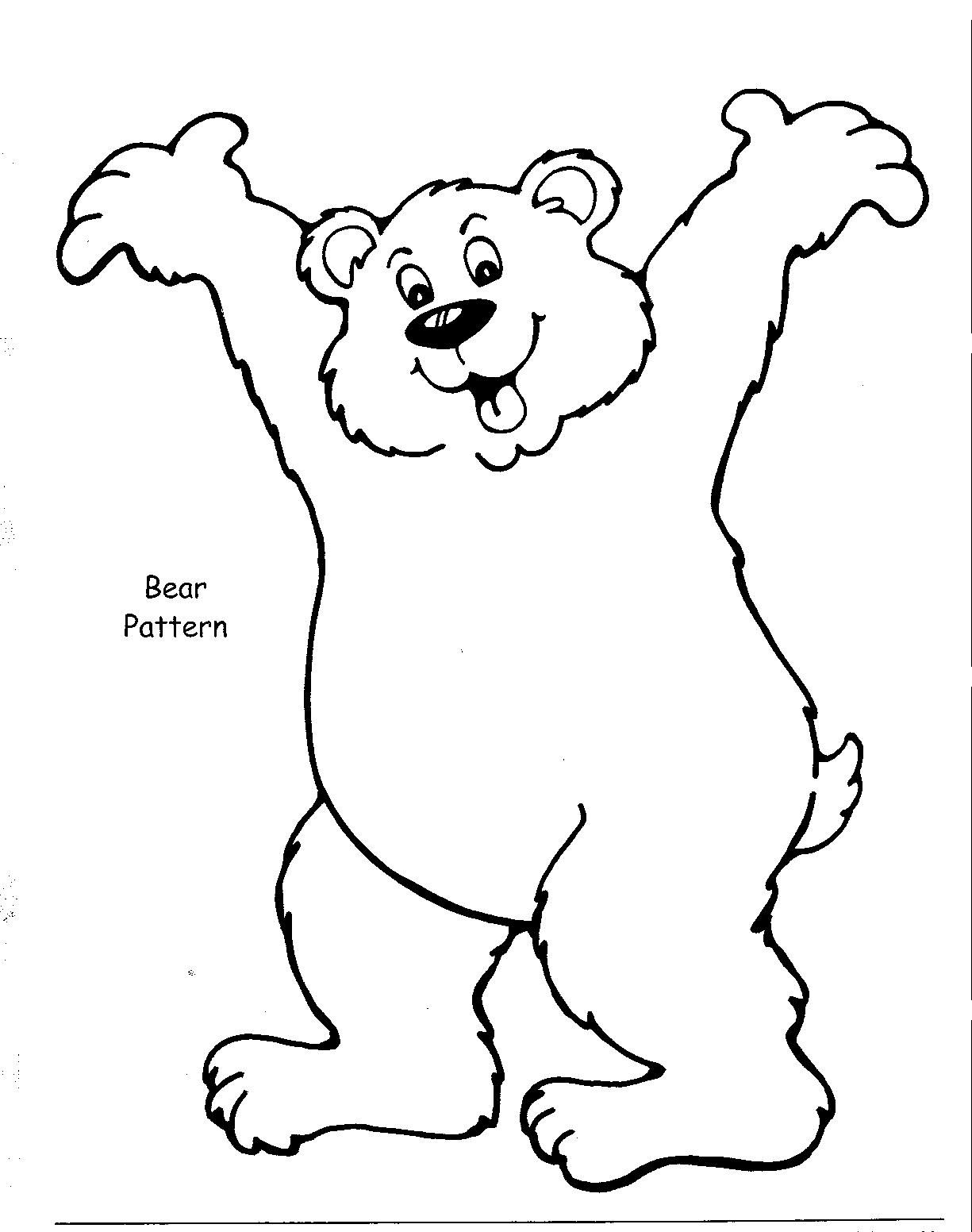 Brilliant Beginnings Preschool Printables Bear coloring