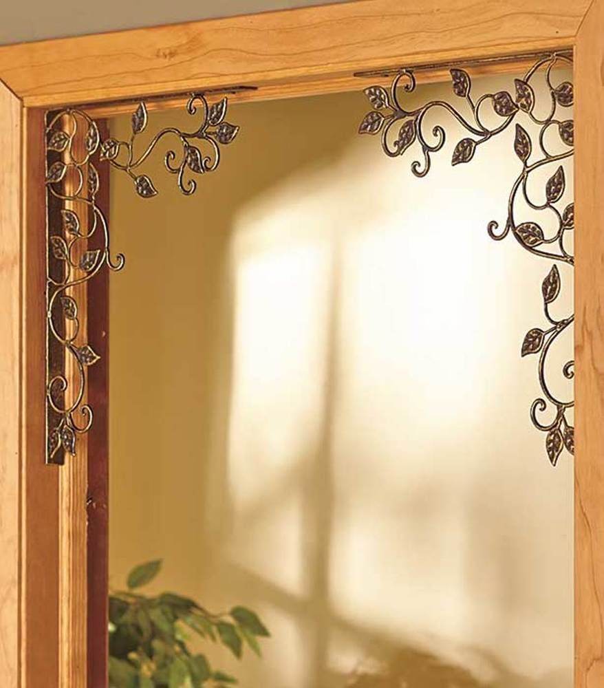 Vine - large Cast Iron Corner Bracket Set Indoor Outdoor Door Window ...
