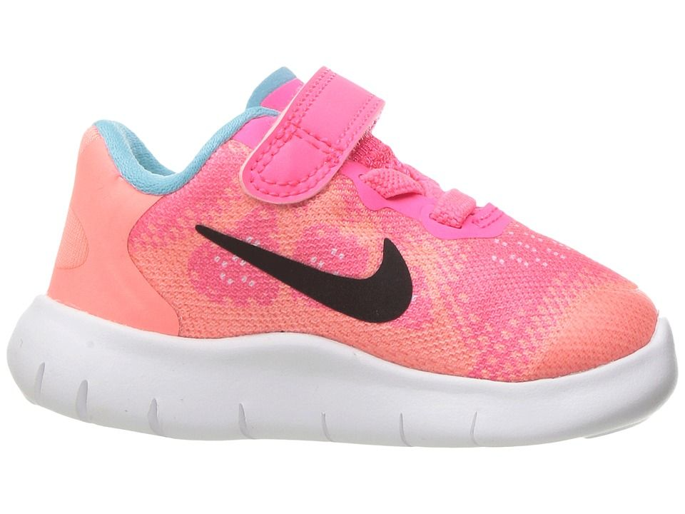 cb4a31429df4d Nike Kids Free RN 2017 (Infant Toddler) Girls Shoes Racer Pink Black Lava  Glow Pure Platinum