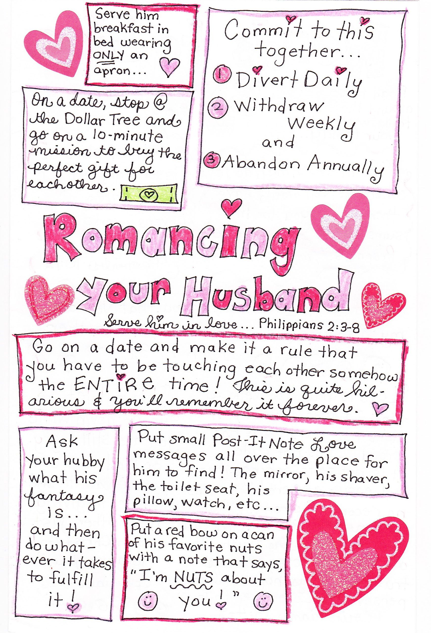 The 25 Days of Love Fun - Day 11: Romancing The Happy Hubby Part 1 ...