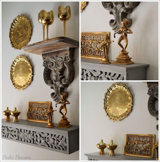 Brass Home Decor: Brass Décor, Brass Vignettes, Global Décor Design, Indian