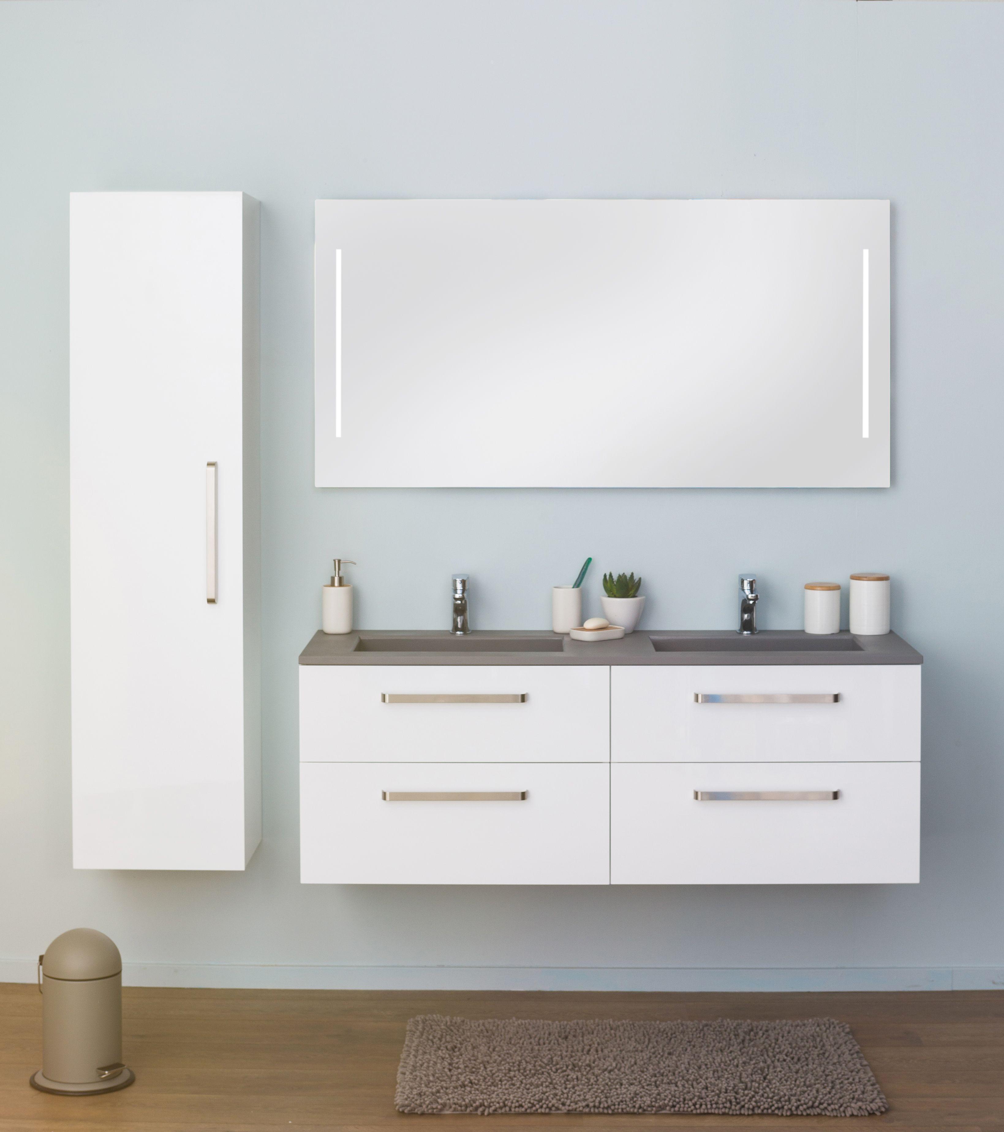 badkamermeubel modular wit 1400mm badkamers pinterest