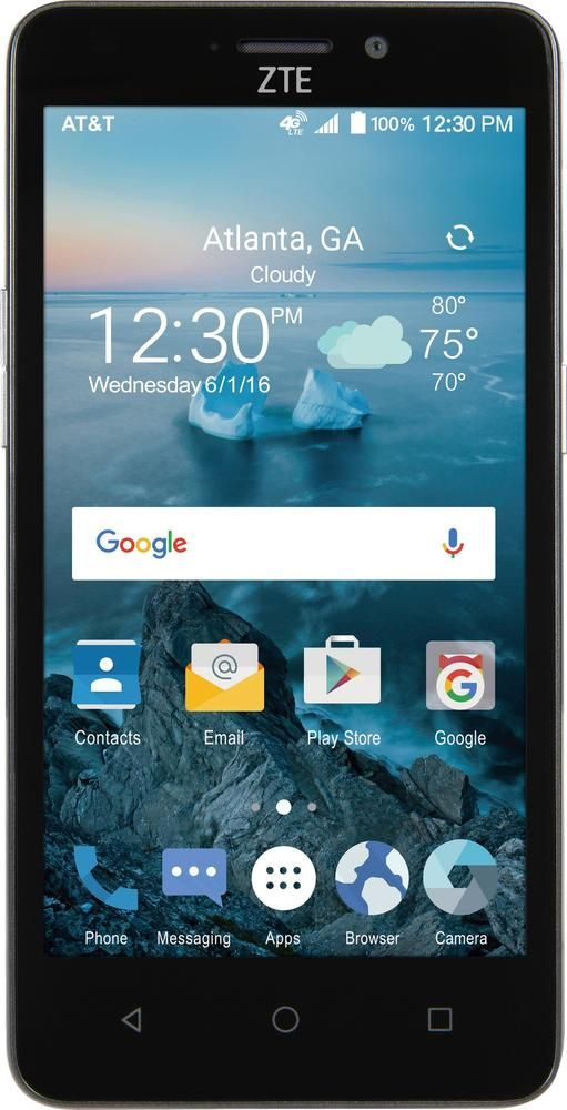 buy online e0ff9 21cfa At&t GoPhone - ZTE Maven 2 4G LTE with 8GB Memory Cell Phone - Dark ...