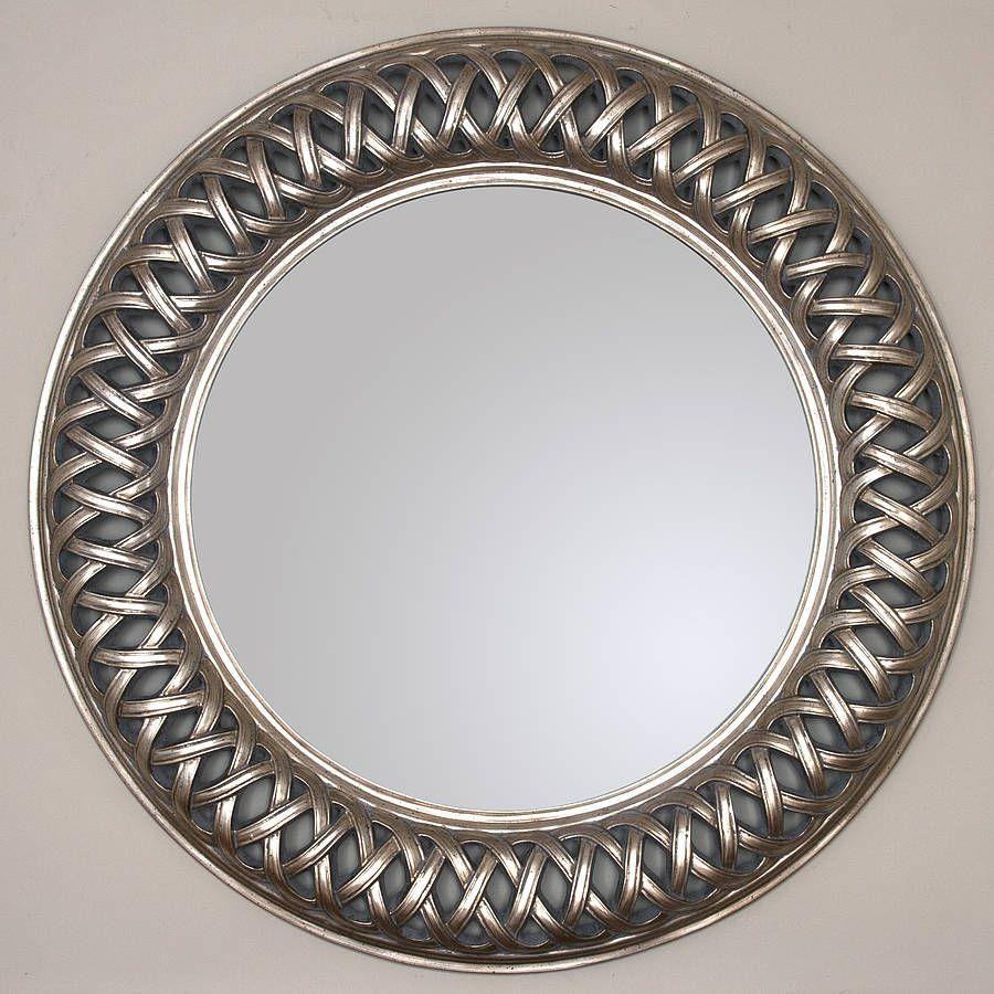 Grand Champagne Silver Weave Round Mirror | Round mirrors, Grand ...