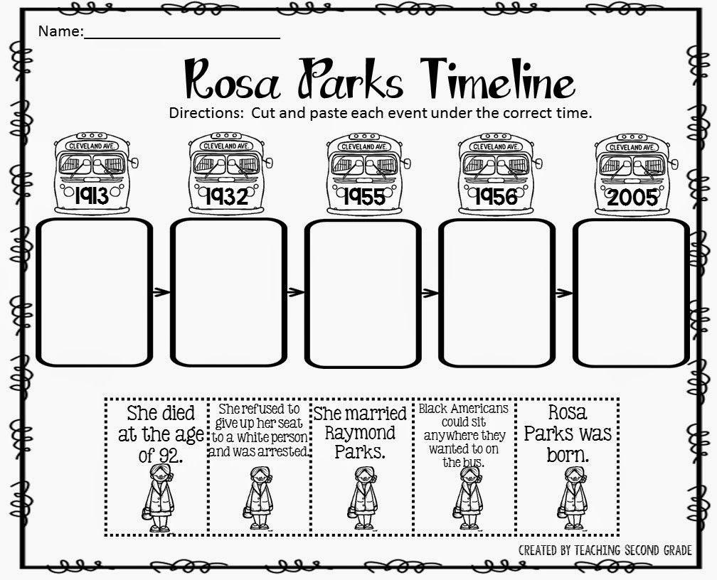 worksheet Parallel Timelines Worksheet the best of teacher entrepreneurs rosa parks timeline timeline