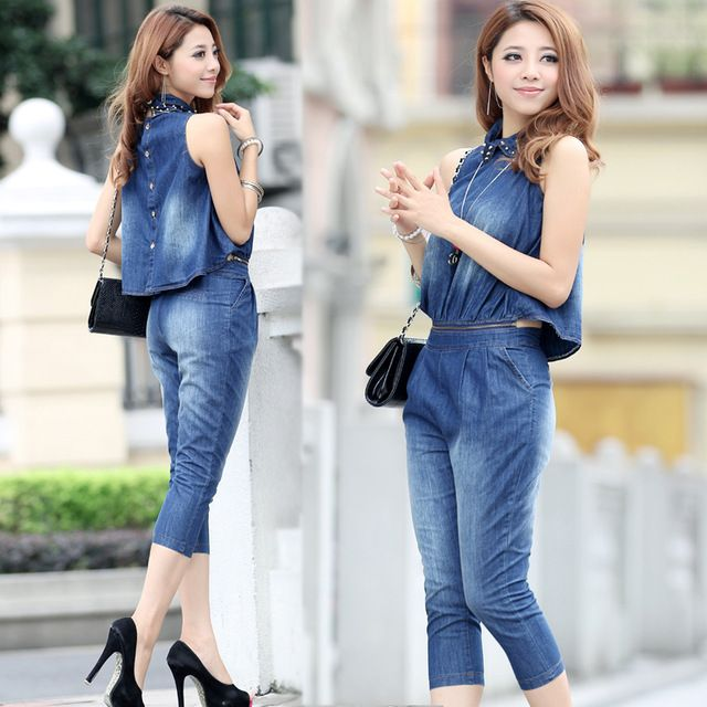 2014-women-casual-thin-denim-jumpsuit-capris-jeans-overalls-short ...