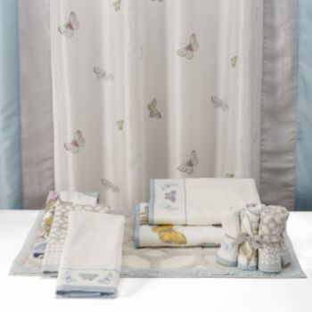 One Home Brand Enchanted Garden Embroidered Shower Curtain