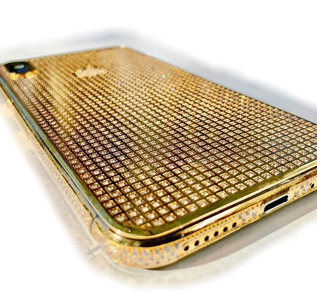 iPhone X 24K Gold Crystal   Limited Edition in 2020   Crystals. Gold money. Golden design