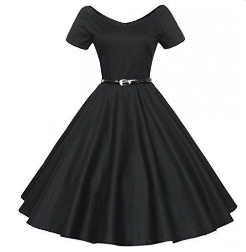 Padgene Robe De Bal Style Années 50 Vintage Clarity 'Audrey' Pastel  Rockabilly Femme (