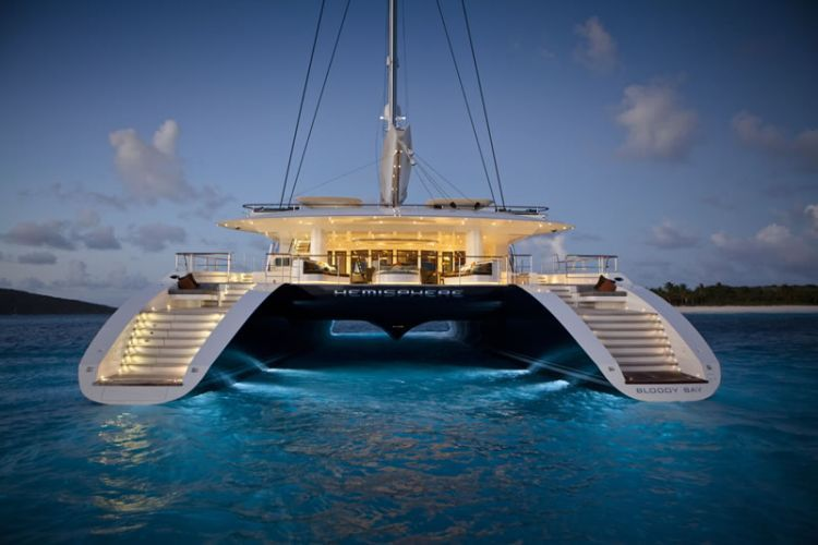 Worlds Largest Catarmran Sailing Yacht Hemisphere @Matty Chuah BEST OF YACHTING #CharterYacht